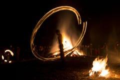 Fire ritual Sirni Zagovezni before Easter Stock Photos