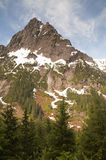 Fire Road Overlooks Sperry Peak North Cascade Mountain Range Stock Photography