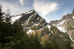 Fire Road Overlooks Vesper Peak North Cascade Mountain Range. High alpine ridge North Cascade Range North America Royalty Free Stock Images