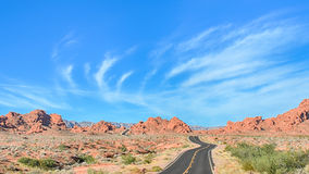 Fire Road, Valley of Fire State Park, NV Stock Photography