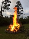 Fire. Roaring big fire royalty free stock photography