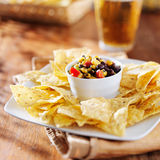 Fire roasted black bean and corn salsa Stock Image