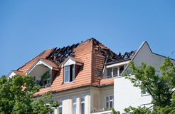 Fire roof Stock Photography
