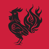 Fire Rooster Chinese New Year Red Black Symbol 2017. Fire Rooster Chinese New Year Red and Black Symbol 2017 Illustration Template Royalty Free Stock Images