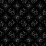 Fire Rooster 2017, Chinese New year seamless pattern Stock Photography