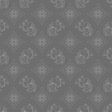 Fire Rooster 2017, Chinese New year seamless pattern. Fire Rooster 2017, China New year, seamless pattern. Gray color Stock Image