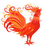 Fire Rooster Symbol of 2017 New Year Royalty Free Stock Image