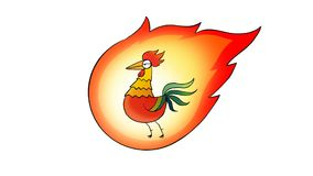Fire rooster stock footage