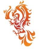 Phoenix fire bird  vector illustration Royalty Free Stock Photo