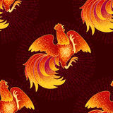 Fire Rooster 2017 Royalty Free Stock Photo