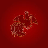 Fire Rooster 2017 Stock Photo