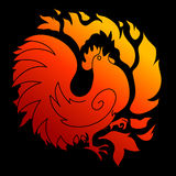 Fire Rooster 2017 Royalty Free Stock Photos