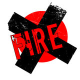 Fire rubber stamp Stock Photo