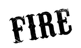 Fire rubber stamp Stock Images