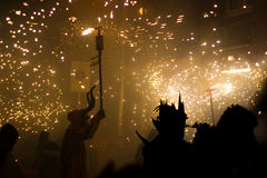 fire runs Royalty Free Stock Image