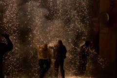 Fire runs Stock Photography