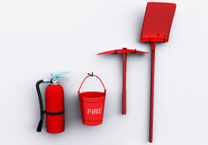 Fire safety. (3D rendered illustration, isolated Royalty Free Stock Photo