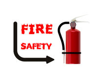 Fire safety. On white background Royalty Free Stock Photo