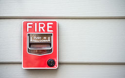 Fire safety. Fire alarm red box safety stock images