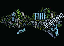 Fire Safety Begins In Your Own Apartment Word Cloud Concept. Fire Safety Begins In Your Own Apartment Text Background Word Cloud Concept Royalty Free Stock Image