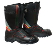 Fire safety boots Royalty Free Stock Photos