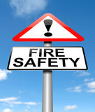 Fire safety concept. 3d Illustration depicting a warning sign with a fire safety concept Stock Photography