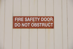 Fire safety door sign Stock Image