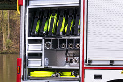 Fire safety equipment in an erase groups Vehicle Royalty Free Stock Photography