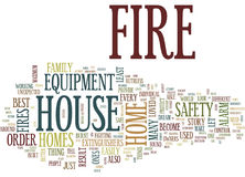 Fire Safety Equipment Word Cloud Concept. Fire Safety Equipment Text Background Word Cloud Concept Royalty Free Stock Photo