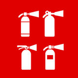 Fire safety extinguisher vector icon Royalty Free Stock Images