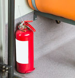 Fire Safety, Fire equipment on background. Stock Image