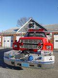 Fire safety: fire truck front Stock Photos