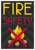 Fire safety. Firefighting poster do not light bonfire.  Stock Photography