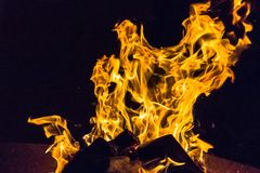 Fire safety in the house and office. Devilish flame. The fire of hell. Background from dancing tongues of fire. Fire hazard. Fire safety. Passionate love. Bask royalty free stock photography