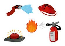 Fire Safety Icons Royalty Free Stock Photos