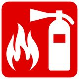Fire safety. Red rectangle sign royalty free illustration