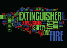 Fire Safety And Rv Word Cloud Concept Royalty Free Stock Photography