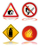 Fire safety sign. Prevention sign Royalty Free Stock Photo