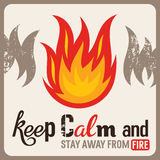 Fire safety sign. In old style, abstract vector illustration Stock Images