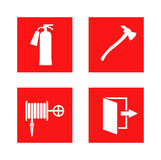 Fire safety sign vector illustration. Stock Photography