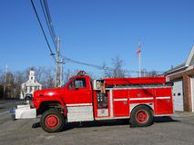 Fire safety: small town fire truck Royalty Free Stock Photo