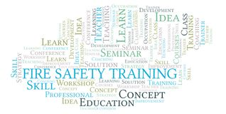 Fire Safety Training word cloud. royalty free stock photos
