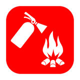 Fire safety vector sign Royalty Free Stock Photography