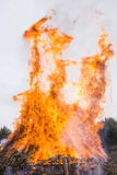 Fire of Saint Antonio in Nepi in Italy Royalty Free Stock Images
