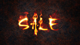 Fire sale. An illustration of the word sale in fire Royalty Free Stock Photography