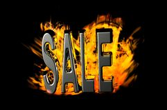 Fire sale Stock Image