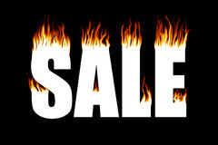 Fire Sale. The word SALE with flames coming off of it Stock Photography
