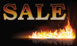 Fire sale background. Vector illustration Royalty Free Stock Images