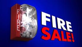 Fire Sale Big Savings Event Clearance Alarm. 3d Illustration Stock Photo