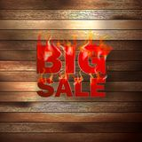 Fire Sale for hot flame design. EPS 10 stock illustration